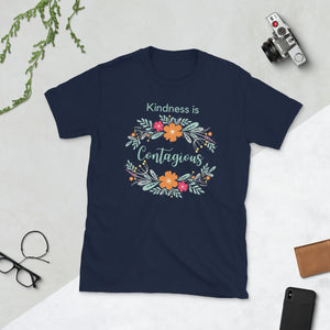 Kindness is Contagious Unisex Teacher T-Shirt