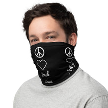 Load image into Gallery viewer, Peace Love Teach Teacher Neck Gaiter/Face Cover