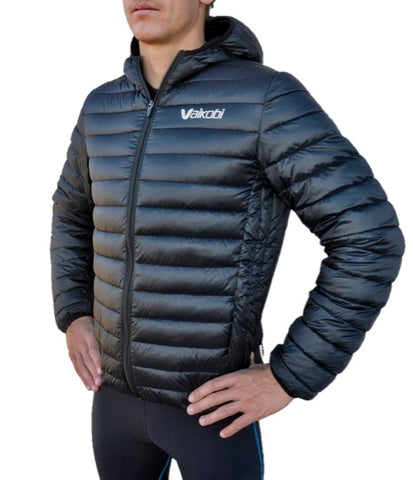 VAIKOBI Hooded Down Jacket- Black