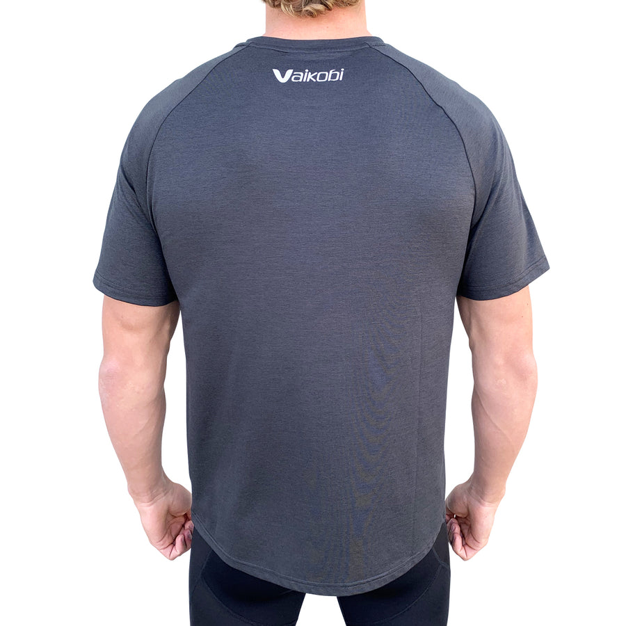 Mens UV Performance Tech Tee- Charcoal