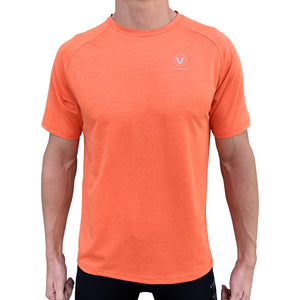 Mens UV Performance Tech Tee- Fluro Orange
