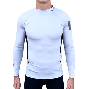 Long Sleeve Rash Top - Silver/Black