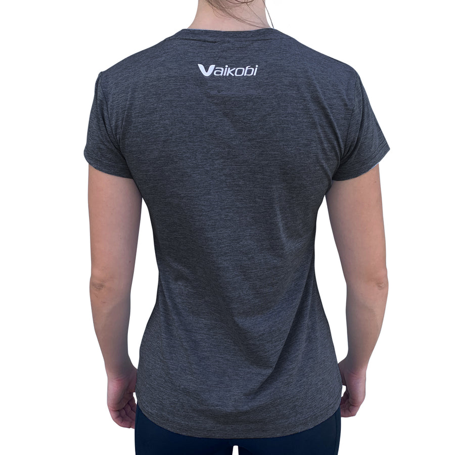 Womens UV Performance Tech Tee- Charcoal