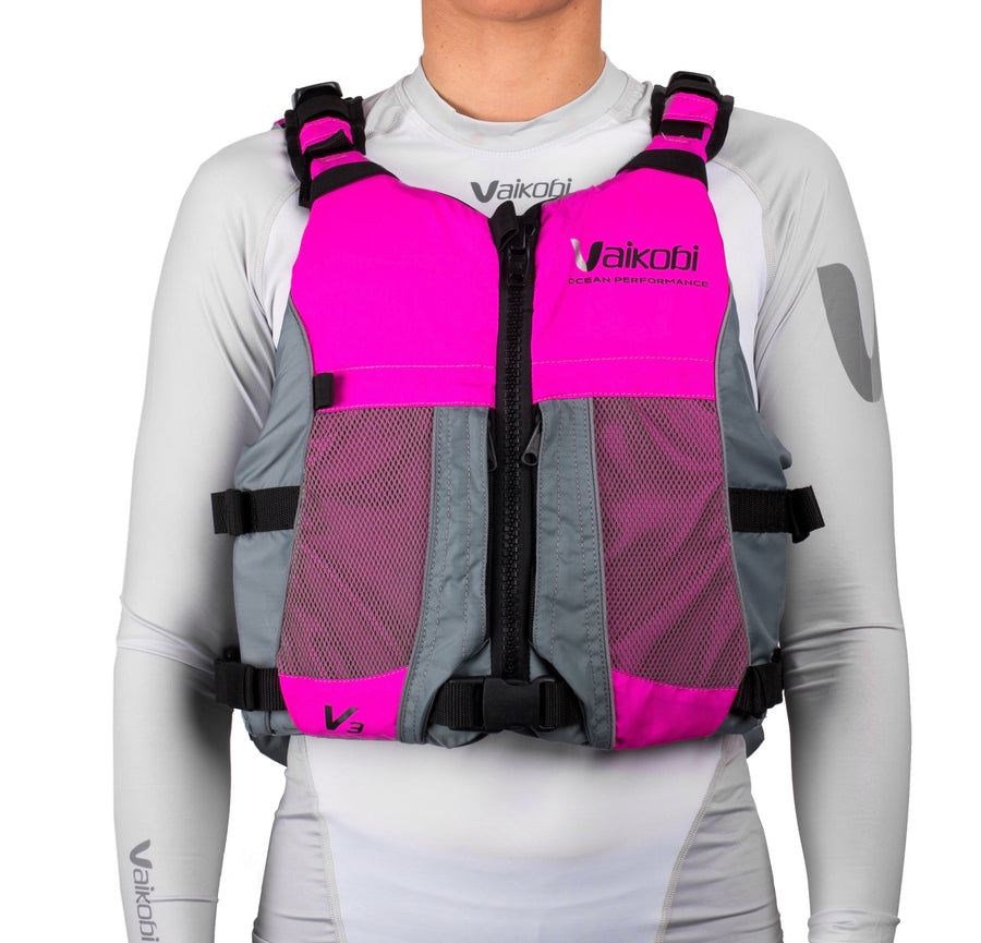 V3 Ocean Racing PFD Life Jacket - Pink/Grey