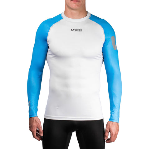 VOCEAN Long Sleeve UV Top - Cyan/Silver