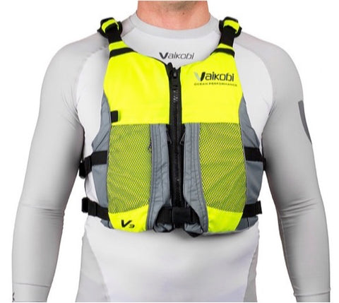 V3 Ocean Racing PFD Life Jacket - Fluro Yellow/Grey