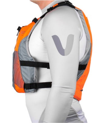 V3 Ocean Racing PFD Life Jacket - Fluro Orange/Grey