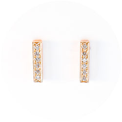 The Diamond Bar Studs
