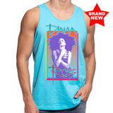 Diana Ross Cover Page Design Unisex Tank in Pacific Blue