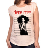 Diana Ross Sheet Music Design Women's Scoop Neck T-Shirt