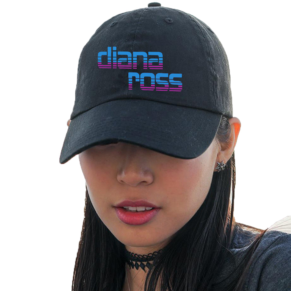 Diana Ross Stacked Logo Design Embroidered Hat