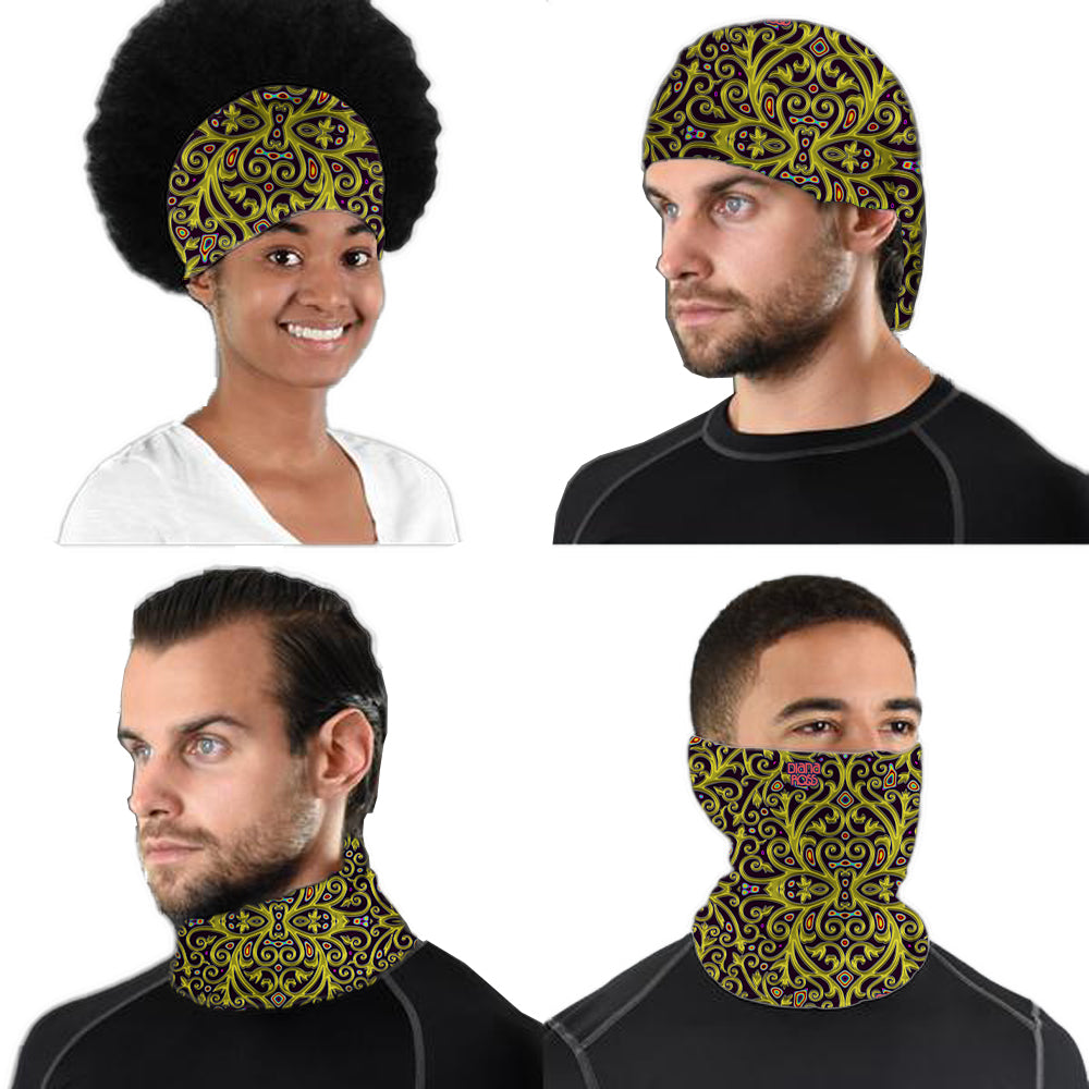 Diana Ross Royal Design Neck Gaiter