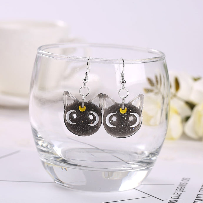Luna Cat Kawaii Earrings