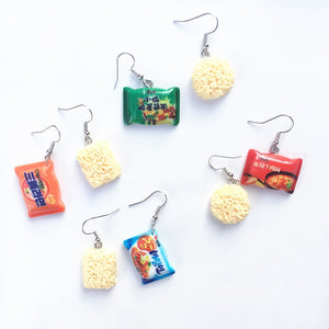 Instant Noodle Drop Earrings the-kawaii-shoppu.myshopify.com [variant_title]