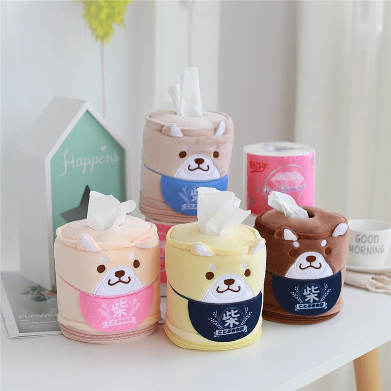 Kawaii Shiba Inu Home & Bathroom Plush Tissue Case Box the-kawaii-shoppu.myshopify.com [variant_title]