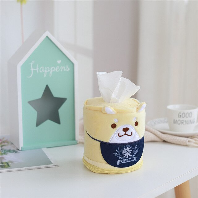 Kawaii Shiba Inu Home & Bathroom Plush Tissue Case Box the-kawaii-shoppu.myshopify.com 11cm-30cm / yellow