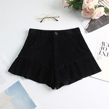 Load image into Gallery viewer, Kyuto High Waist Corduroy Ruffle Shorts S - XXL