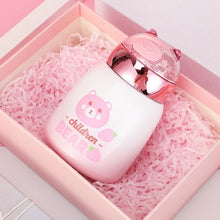 Load image into Gallery viewer, Innocent Bear Thermal Bottle the-kawaii-shoppu.myshopify.com A Bear 300ml