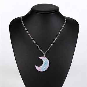 Pastel Moon Necklace