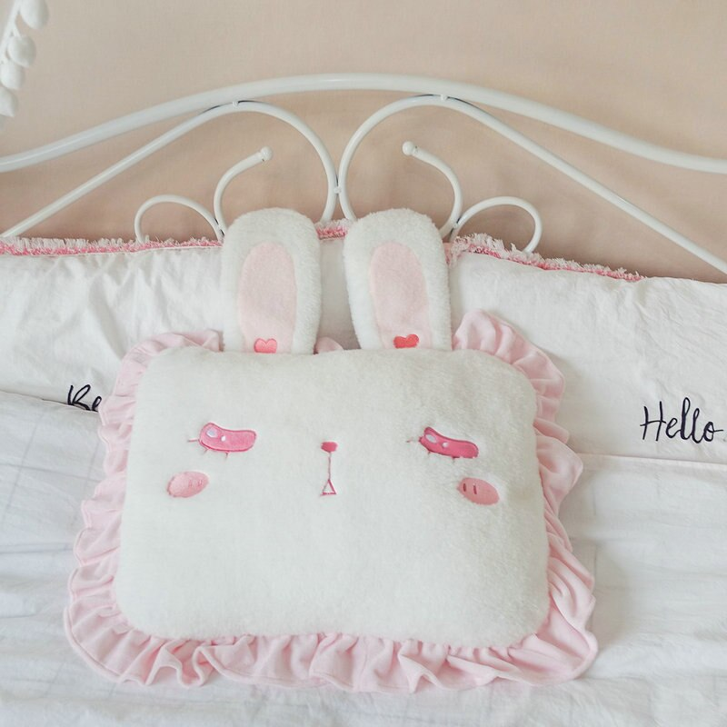 Shy Rabbit Candy Pillows the-kawaii-shoppu.myshopify.com 45X35cm / Closed eyes