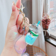 Load image into Gallery viewer, Fruit Milk Kawaii Keyring