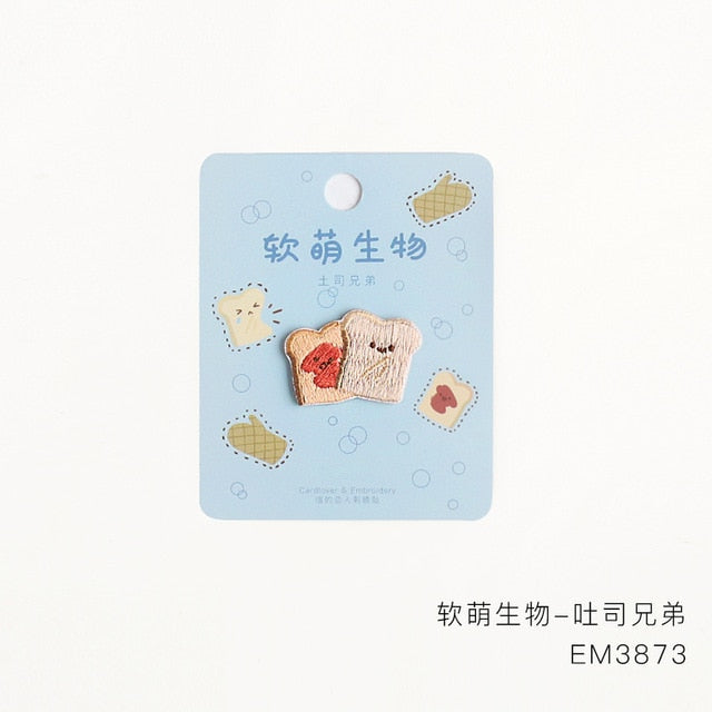 1pc Cute Food Embroidery Patches the-kawaii-shoppu.myshopify.com C type
