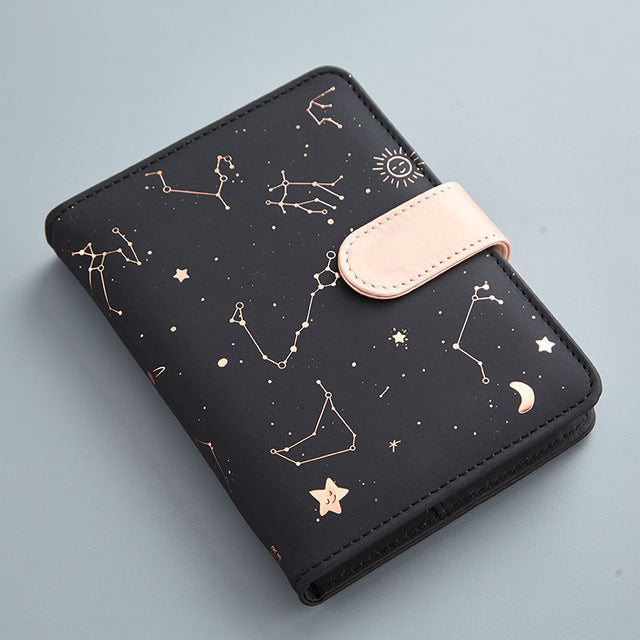 Starry Night Constellations Notebook the-kawaii-shoppu.myshopify.com Black / 105X140mm
