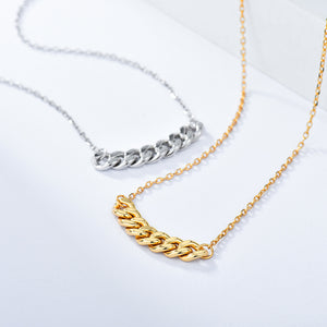 Metal Stitching Clavicle Chain