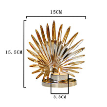 Load image into Gallery viewer, Golden Metal Candle Holder Candle Holder Table Decoration