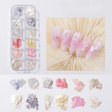 Load image into Gallery viewer, Shell Piece Diamond Rhinestone Decoration Pearl Butterfly Nail Sticker