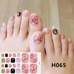 Removable Nail Metal Toe Nail Sticker Nail Sticker