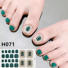 Load image into Gallery viewer, Removable Nail Metal Toe Nail Sticker Nail Sticker