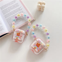 Load image into Gallery viewer, Cute Quicksand Rainbow Bear Bluetooth Wireless Headset Set