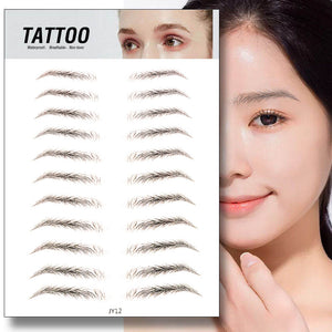 Waterproof 6D Eyebrow Tattoo Semi-Permanent Embroidery Natural Long Lasting Fake Eyebrow