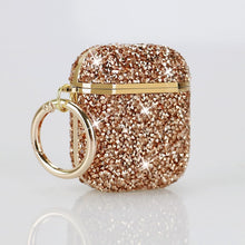 Load image into Gallery viewer, Electroplating Diamond-studded Earphone Case Luxury Headset Box