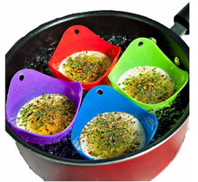 Load image into Gallery viewer, Green Silicone Egg Cooker 4 Color Silicone Egg Cooker