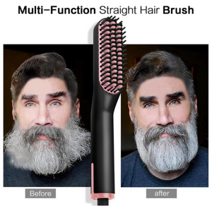 Multifunctional Electric Straightening Hair Comb Fast Irons Auto Straight Beard Brush
