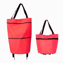 Load image into Gallery viewer, Foldable High Quality Tug Bag Shopping Cart