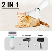 Load image into Gallery viewer, 2 in 1 Pet Drying Brush Pet Hair Dryer Comb