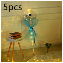 Load image into Gallery viewer, Valentine's Day Gift  LED Luminous Balloon Rose Bouquet Transparent Bobo Ball Rose
