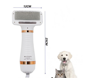 2 in 1 Pet Drying Brush Pet Hair Dryer Comb