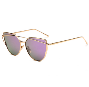 Female Vintage Gold Sunglasses