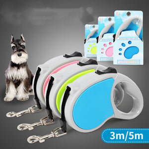 Two-color Small And Medium Pet Telescopic Leash
