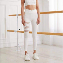 Load image into Gallery viewer, Gym Leggings Cross High Waist Yoga Pants