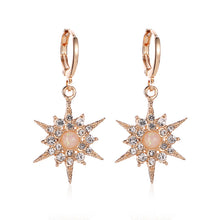 Load image into Gallery viewer, Female Zircon Sun Flower Earrings