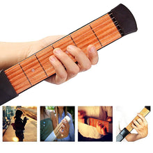 Load image into Gallery viewer, Pocket Guitar Portable for Acoustic Guitar Practice Tool Gadget Chord Trainer 6 String 4 Fret Model for Beginner Finger Training