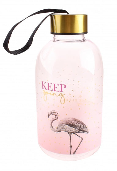 waterfles Yvonne Ellen flamingo 650 ml
