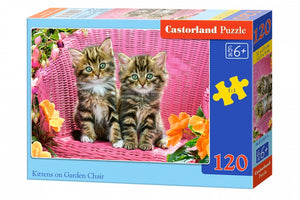 legpuzzel Kittens on the garden chair 120 stukjes