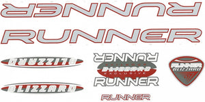 Fietsstickers Runner Blizzard Red 28 X 16 cm