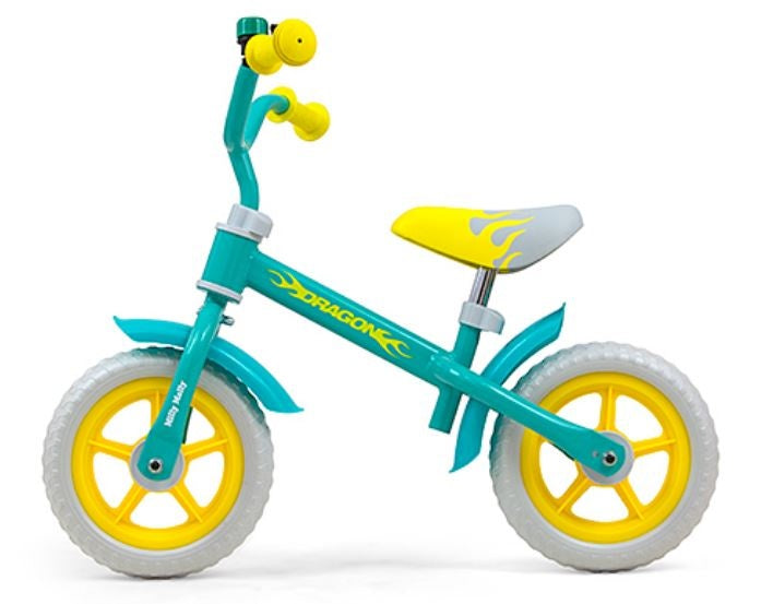 loopfiets Dragon 10 Inch Junior Mintgroen/